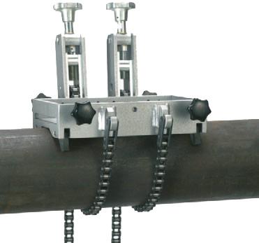 Spannvorrichtungen Rohre im Ø von 150 bis 500 mm