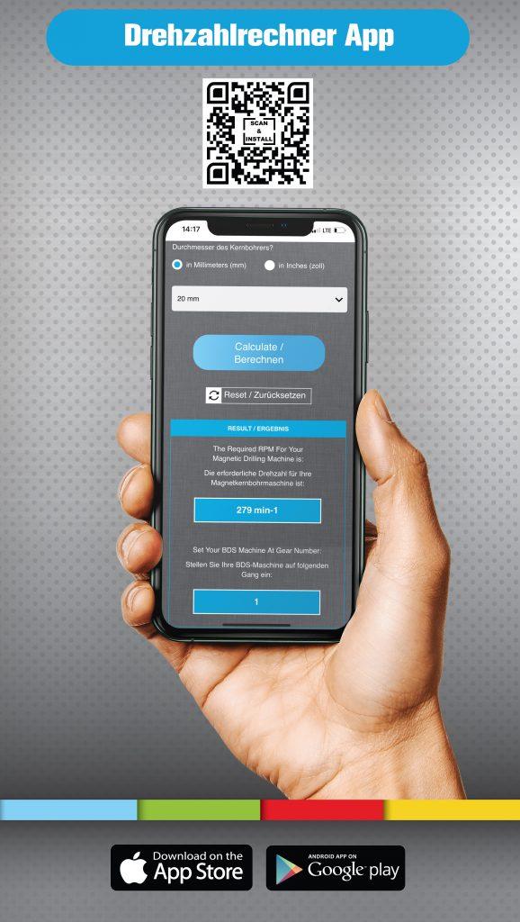 Drehzahlrechner App Kernbohrer